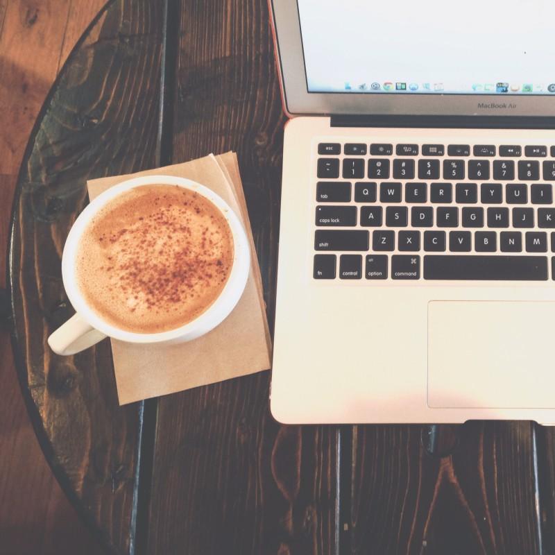 eggnog latte computer fika