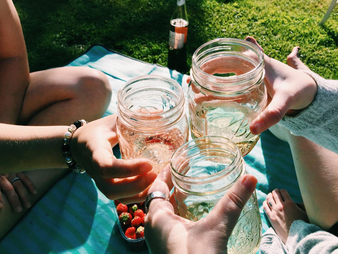wine-strawberries-picnic