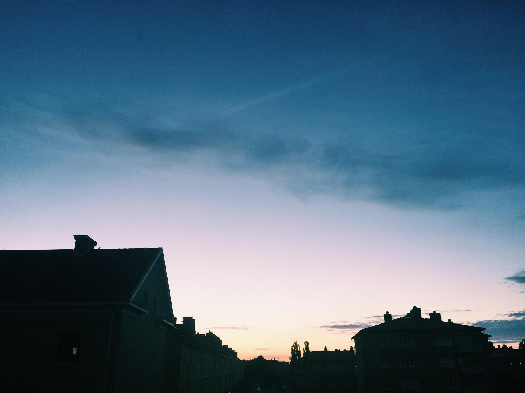 sunset uppsala summer