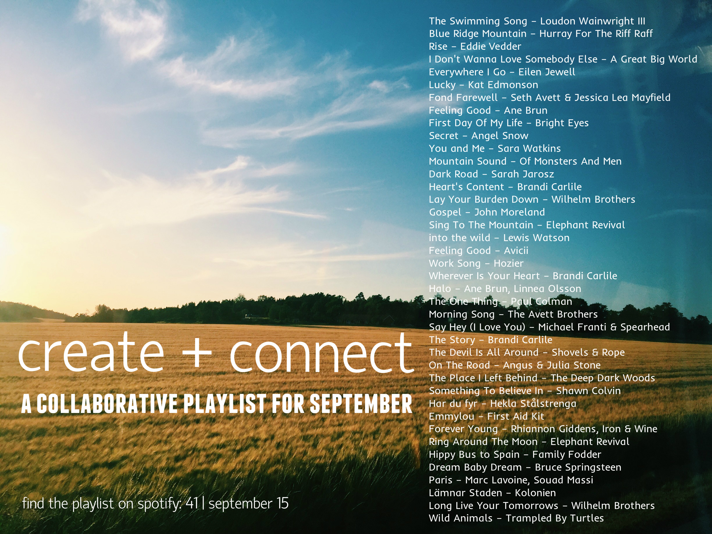 sept playlist 2015