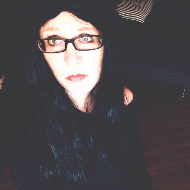 me halloween dark wig