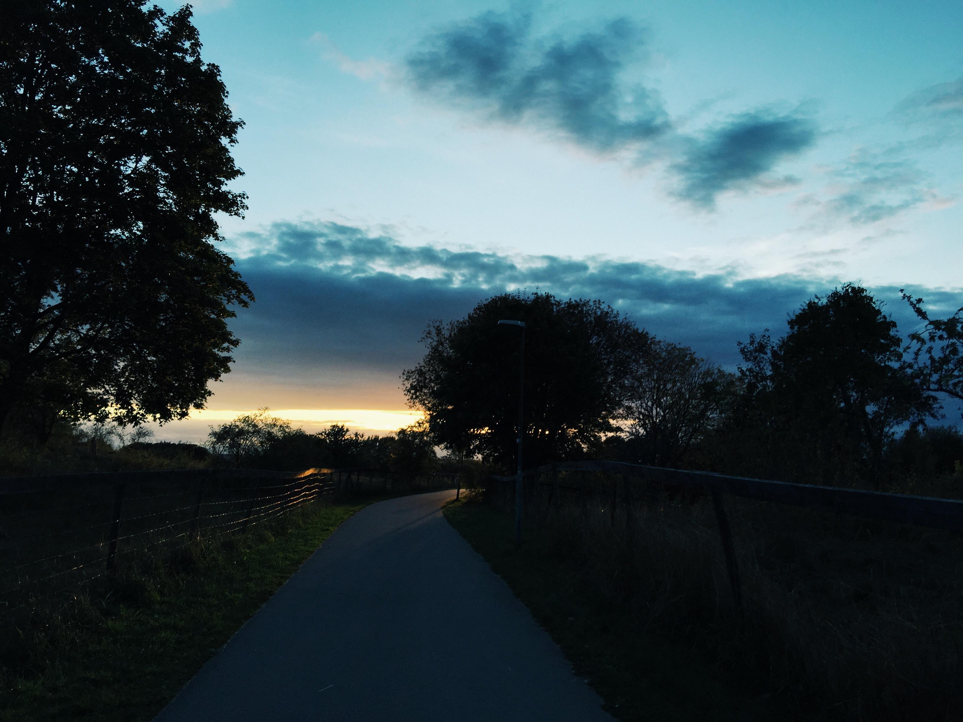 sunset cycling uppsala