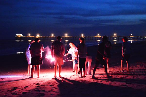 fireworks3 beach family