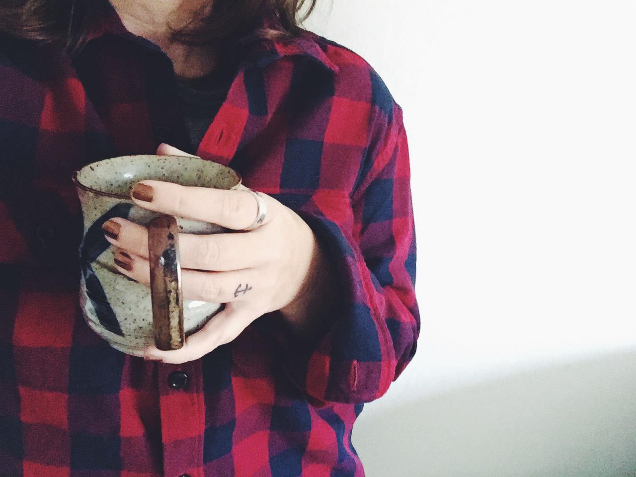 me-flannel-shirt-coffee