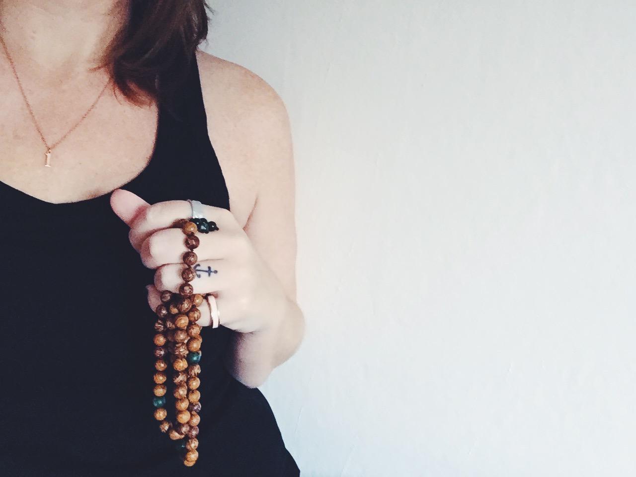 meditation me mala beads