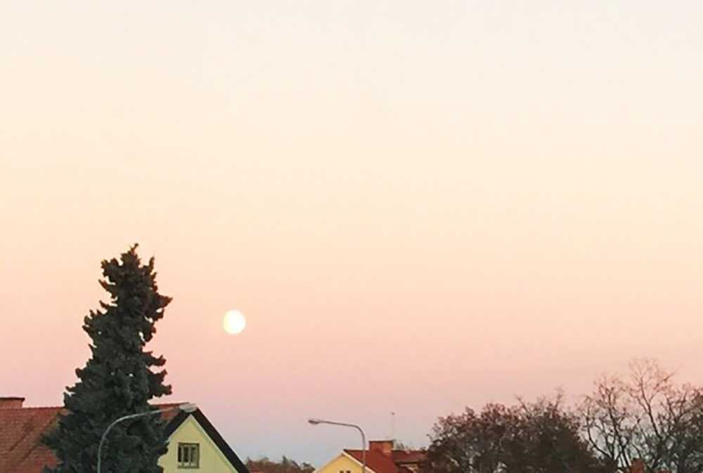 moon sunset