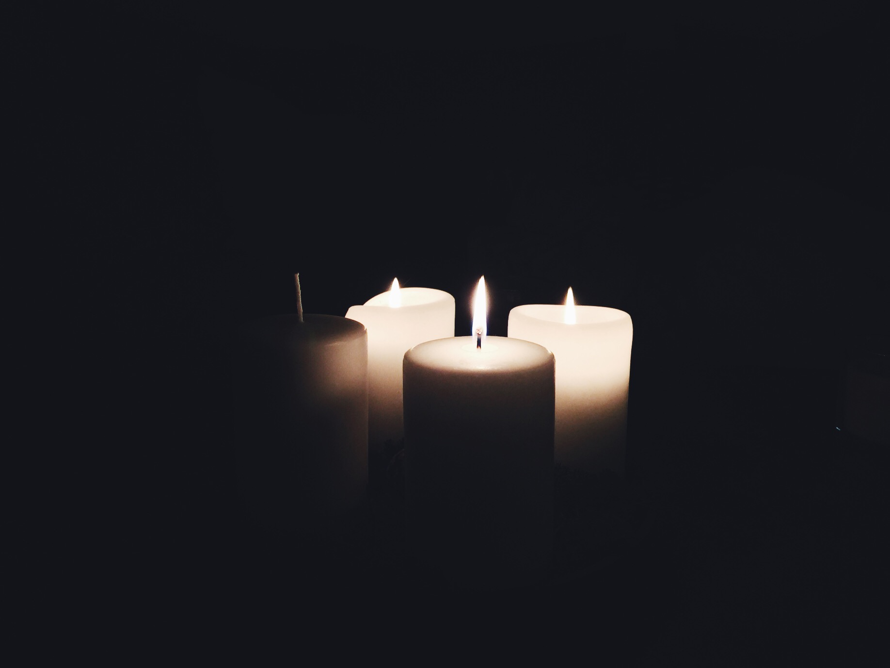 advent candles home darkness