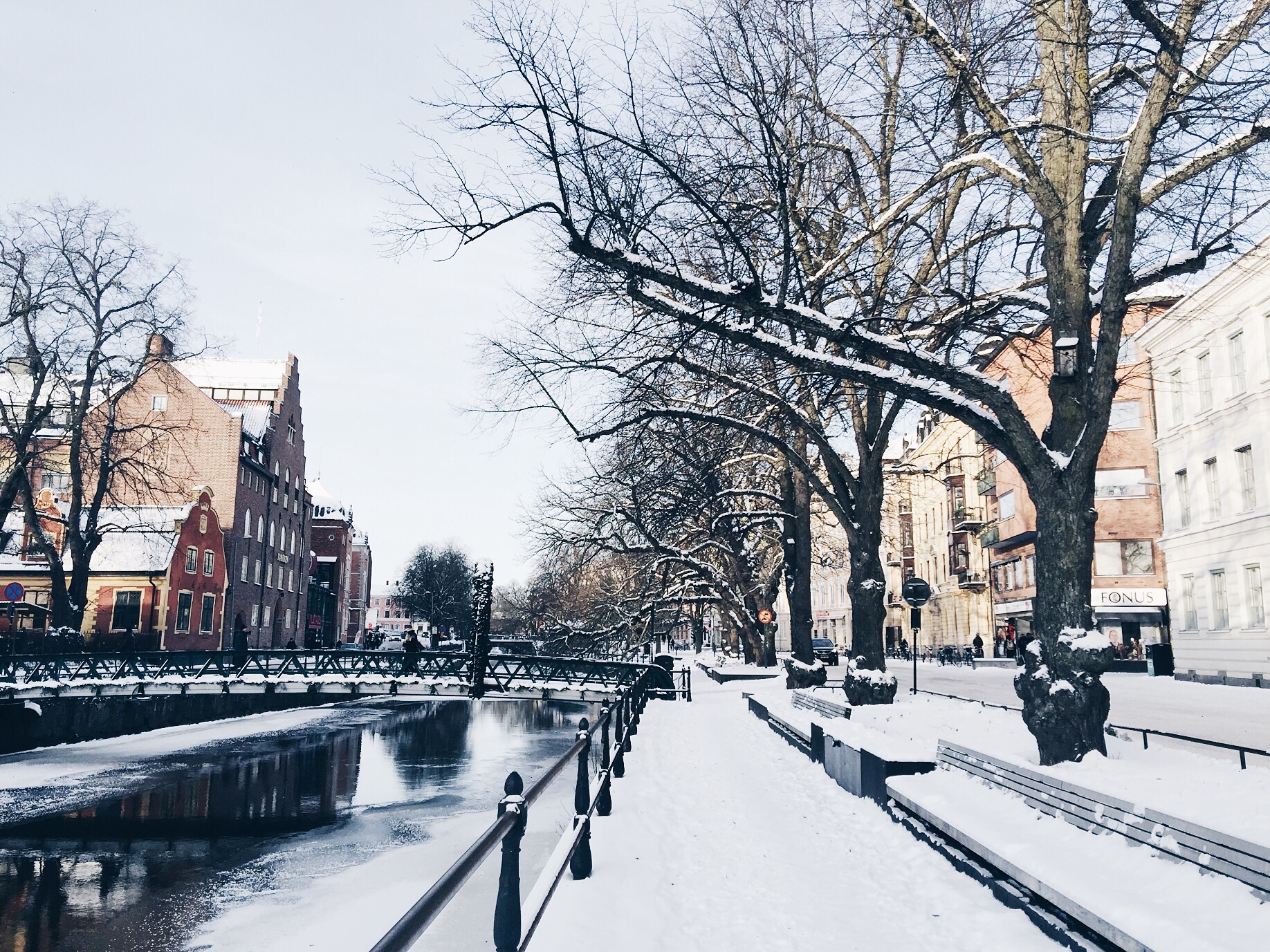 winter uppsala river