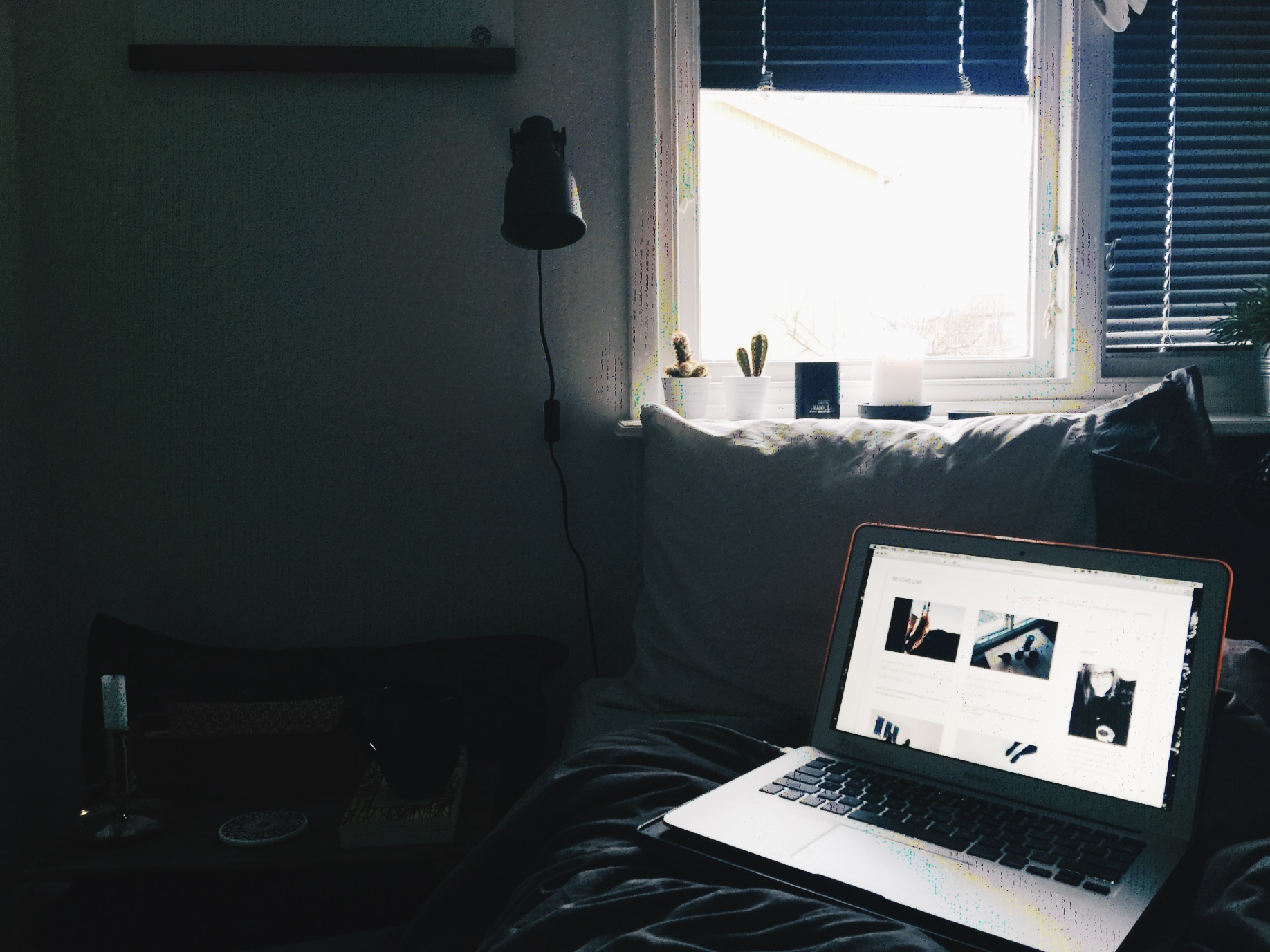 morning home blogging