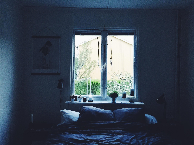 dark home bedroom moody