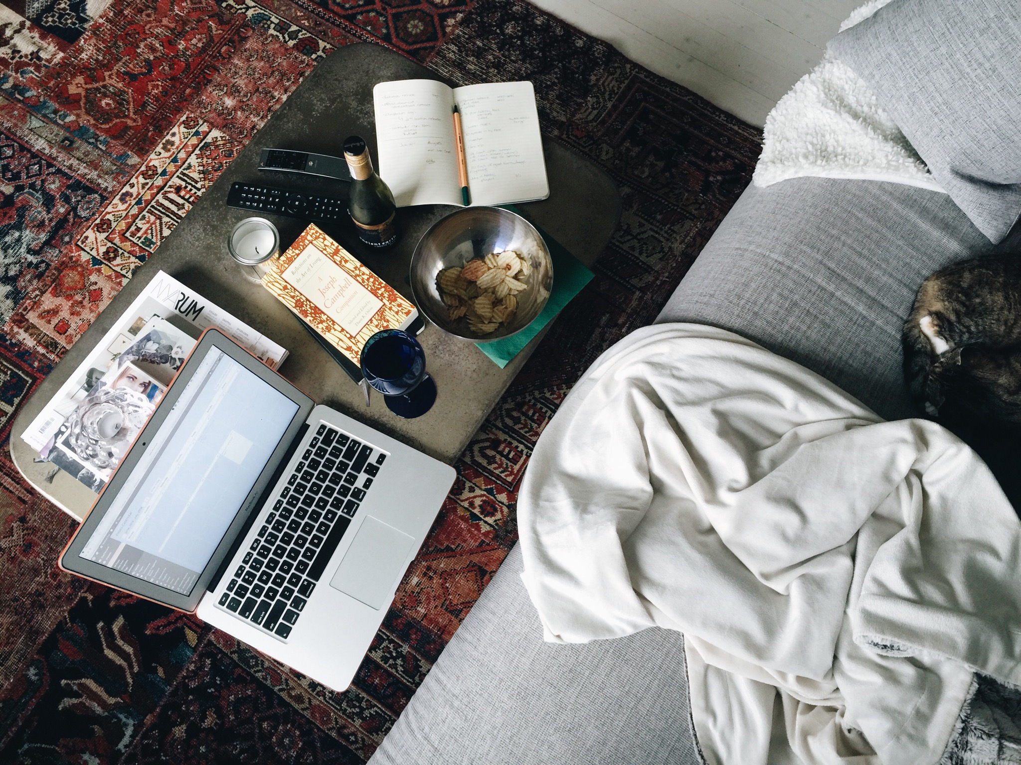 home cozy weekend blogging