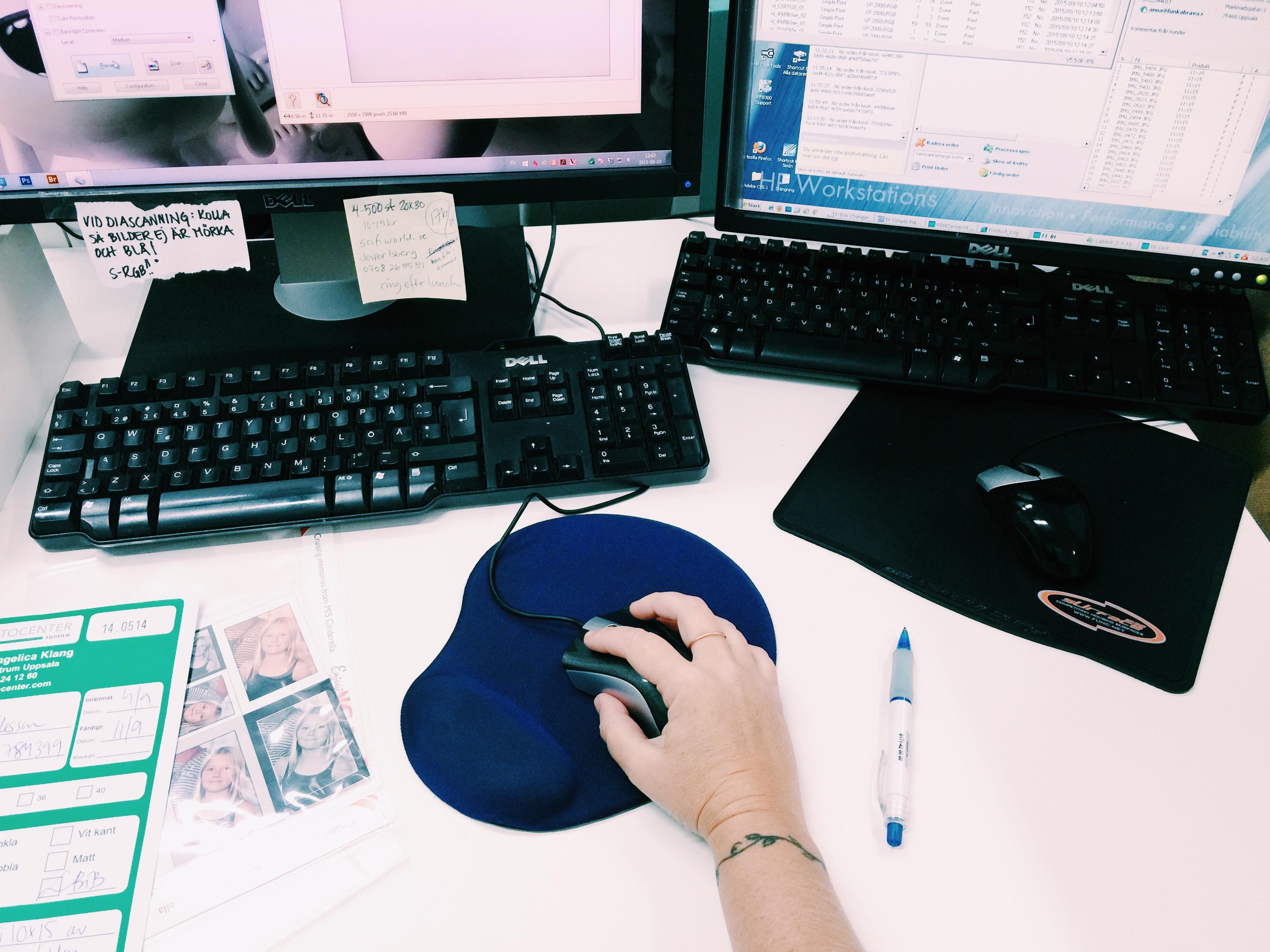 work editing photos
