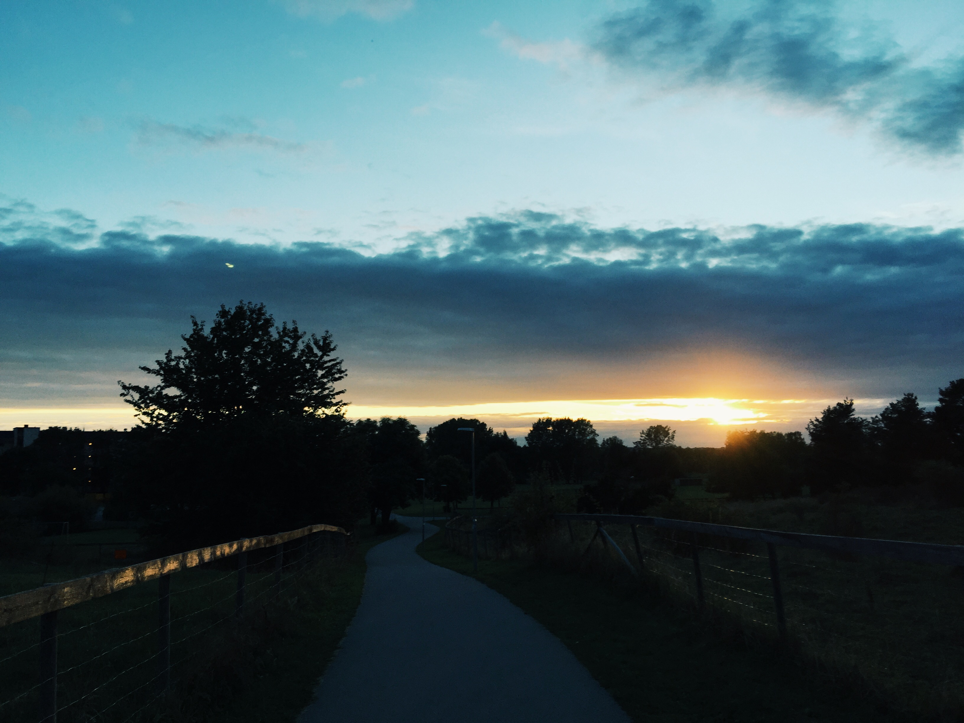 sunset cycling uppsala