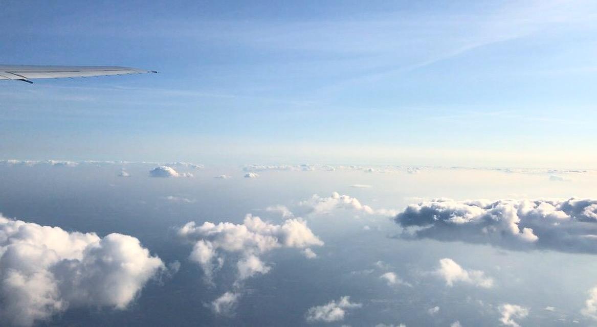 plane sky clouds
